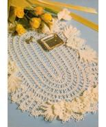 Oval Grade A Impressive Pineapple Doily Whirl Table Centerpiece Crochet ... - $7.99