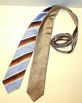 LOT OF 2 MEN'S NECKTIE TIE GEOFFREY BEENE SILK TIES MTLOT3/20/1 - $4.99