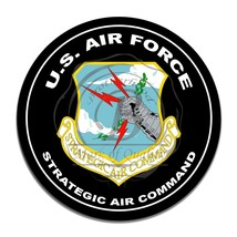 United States Air Force Strategic Air Command Circle Round Aluminum Sign - $16.09
