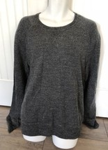 New $148 The Men's Store Bloomingdale's Black Marble French Terry Sweater Sz XL - $82.12
