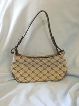 Lauren Ralph Lauren Black Logo Mini Shoulder Bag Purse Leather Canvas - €24,14 EUR