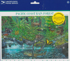 Nature In America USPS Stamps Sheet MNH Scott 3378 Pacific Rain Forest P... - $9.87