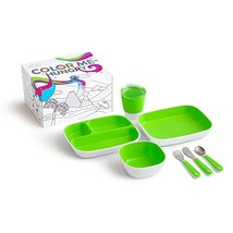Munchkin Color Me Hungry Splash 7pc Toddler Dining Set – Plate, Bowl, Cu... - $22.88