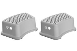 Dreambaby Step Stool, Grey Dots (Pack of 2)