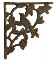 """Wall Shelf Bracket Bird Brace Craft Cast Iron Custom Shelves 7.625"""" D Rust Brown - $15.99"""