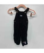 OshKosh B'gosh black corduroy overall penguin patch 12 mo - $20.00