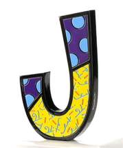 """6"""" Romero Britto Alphabet Letter Figurine Various Freestanding or Wall Mounted image 9"""