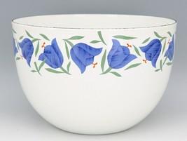 """Vintage Arabia Finland Blue Bell Enamelware 8 3/8"""" Mixing Bowl MINT, Unused image 2"""
