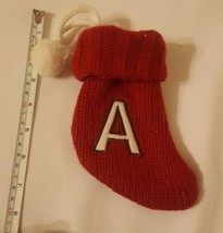 """""""A"""" Christmas XMAS sm Stocking holiday season Decoration + Letter • pre-owned - $12.73"""