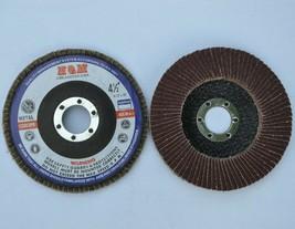 """10 FLAP DISC 4.5"""" x 7/8"""" Aluminum Oxide 40 GRIT for Aluminium Etc - $18.80"""