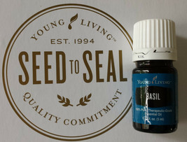 Young Living Essential Oil Basil 5ml  New Never Opened ready to ship - $10.95
