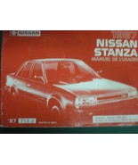 1987 NISSAN STANZA  OWNERS OPERATORS MANUAL - £20.51 GBP