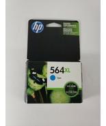 New Genuine HP 564XL High Yield Cyan Ink Cartridge CB323WN Exp. 04/2019 - $14.50