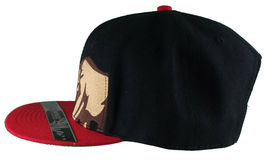 Dissizit! Side Bear Black Red Brim Snapback Cap Hat California Star Flag image 5