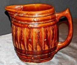 Large Brown Water Pitcher AA20-2314 Vintage