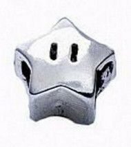 NICE Super Mario Star power Real Genuine Sterling silver 925 jewelry European be - $14.96