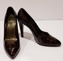 Stuart Weitzman Platswoon Platform Pumps Cognac Tartaruga Patent Leather... - $69.86