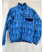 Patagonia Mens' Synchilla Extra Small Aztec Tribal Rare Blue  LW 25580 SP17 - $98.98