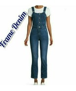 NWT FRAME DENIM Button-Front Denim Jumpsuit XS $375 - $79.20