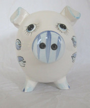 "Vintage Piggy Coin Flower Pattern Bank (Made in Japan) ""Rubber Stopper M... - $49.45"