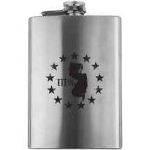 Original New Jersey State III Percenter Stainless Steel 8oz. Flask - $19.99