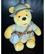 "Disney World Winnie Pooh Plush 8"" Safari Bear in Jacket & Hat with WP Ca... - $7.89"