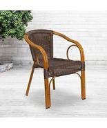 Flash Furniture Cadiz Series Red Bamboo-Aluminum Indoor-Outdoor Restaura... - $84.20