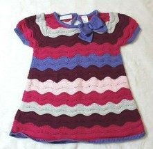 First Impressions Girls Dress Sz 24 Months Chevron Purple Pink Spring Su... - $16.82