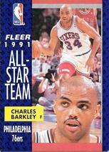 Charles Barkley ~ 1991-92 Fleer #213 ~ 76ers - $0.05