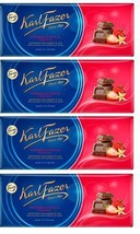 FAZER Karl Fazer Strawberry and vanilla in milkchocolate 4 x 200 g (4 pcs) - $33.17