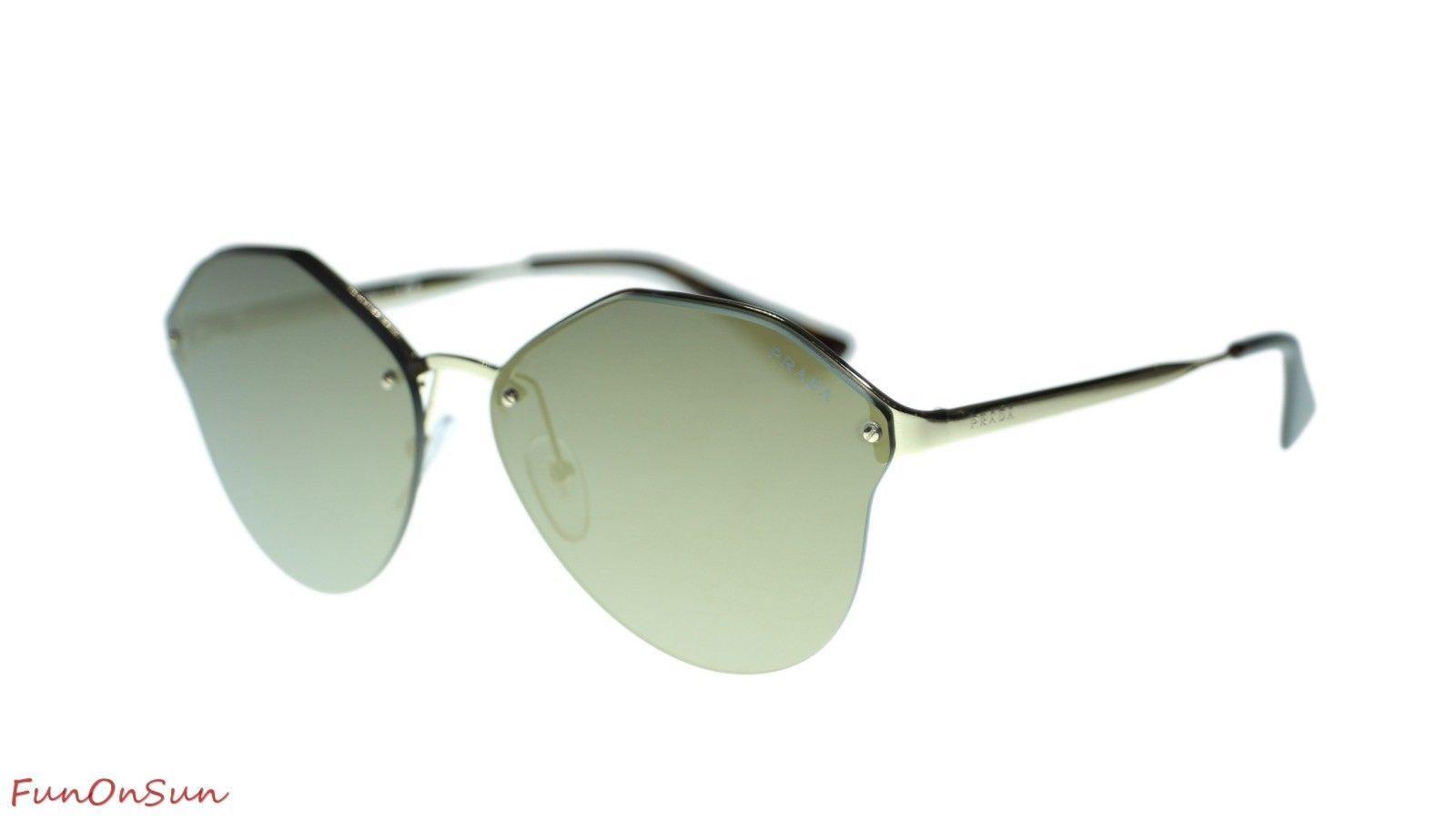 3fc8e28d86b 10. 10. Prada Women Sunglasses PR64TS SVN4L0 Pale Gold Dark Grey Mirror Gold  Lens 66mm