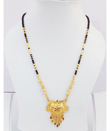 Bollywood Fashion Jewelry Ethnic 22k Gold Plated Chain Necklace Long Man... - $17.58