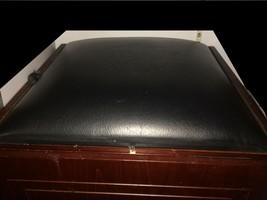 "Vintage Harley-Davidson Logo Embossed Dark Wood Chest 18""x 18x 18"" w Lea... - $81.26"