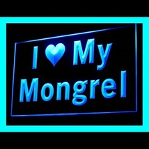 210115B I Love My Mongrel Lifestyle Statement Aggressive Carrying LED Li... - $18.00