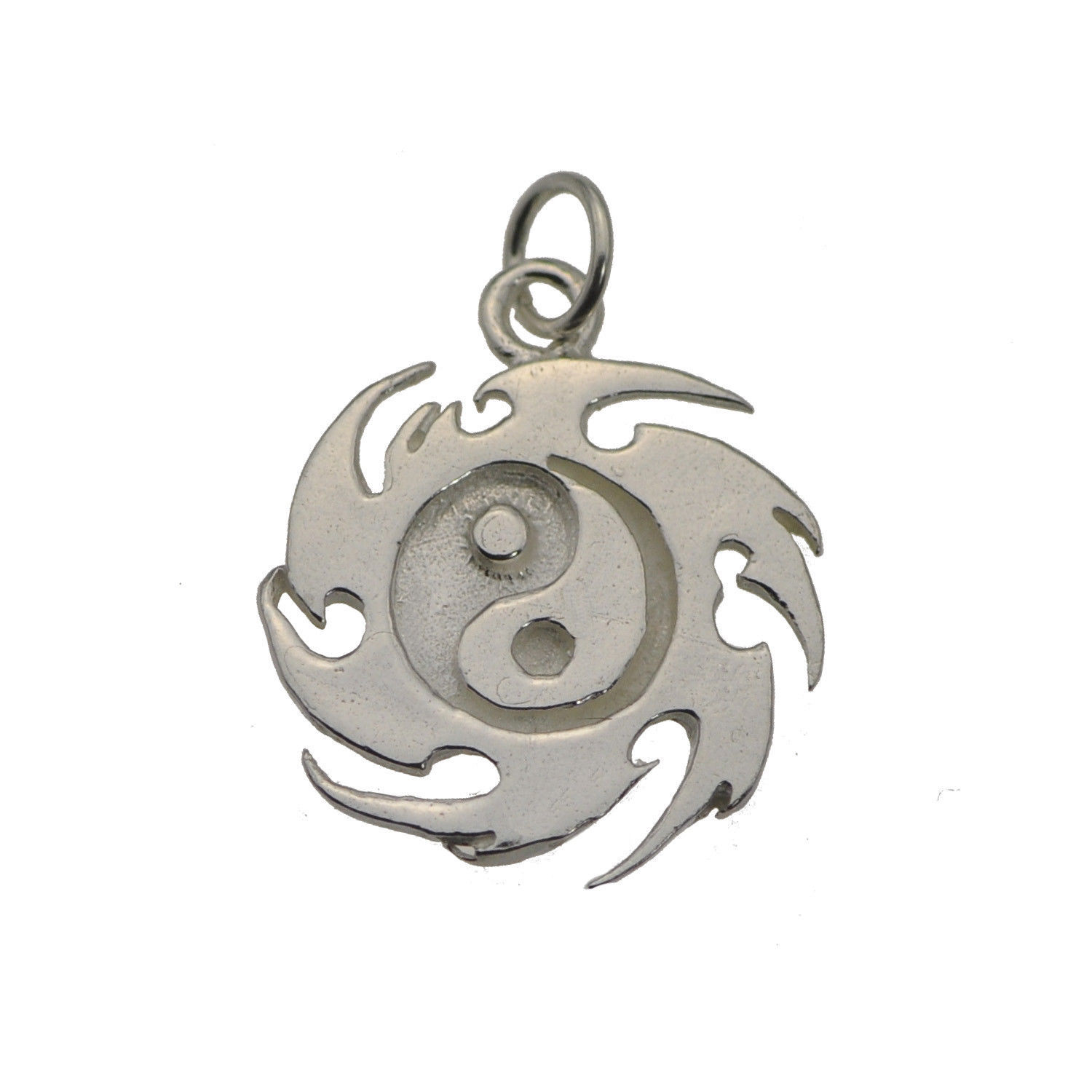 Yin Yang Fire Master Element Real Solid Sterling Silver 925 Jewelry New Charm