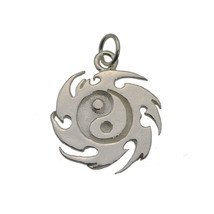 Yin Yang Fire Master Element Real Solid Sterling Silver 925 Jewelry New Charm - $22.44
