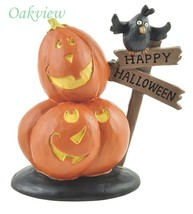 Blossom Bucket Jack-O-Lanterns with Happy Halloween Sign Black Crow - €11,46 EUR