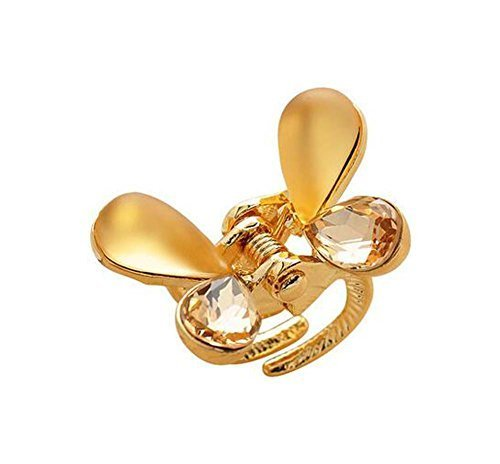 Butterfly Hair Claw Hair Styling Clip Small Size Claw/Hairpin(Champagne)