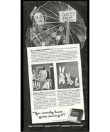 Plastic Umbrella Lady in Plastic Raincoat 1940 Kotex Sanitary Napkins Ad - $10.99