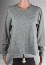 Lauren Ralph Lauren Damen Pullover Grau Merino Wolle Angora Kaschmir Größe L - $18.30