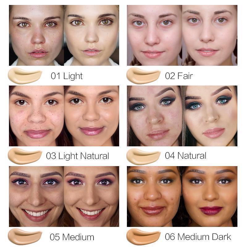 Foundation Base Makeup Professional Face Matte Finish Liquid Make Up Concealer image 5