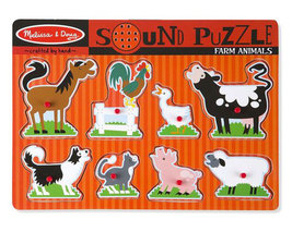 Melissa and Doug Farm Animals Sound Puzzle - 8 Pieces - $12.00