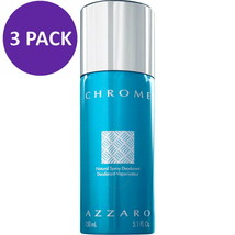 AZZARO CHROME Deodorant Spray for Men, 5.0 oz (3 PACK) - $46.71