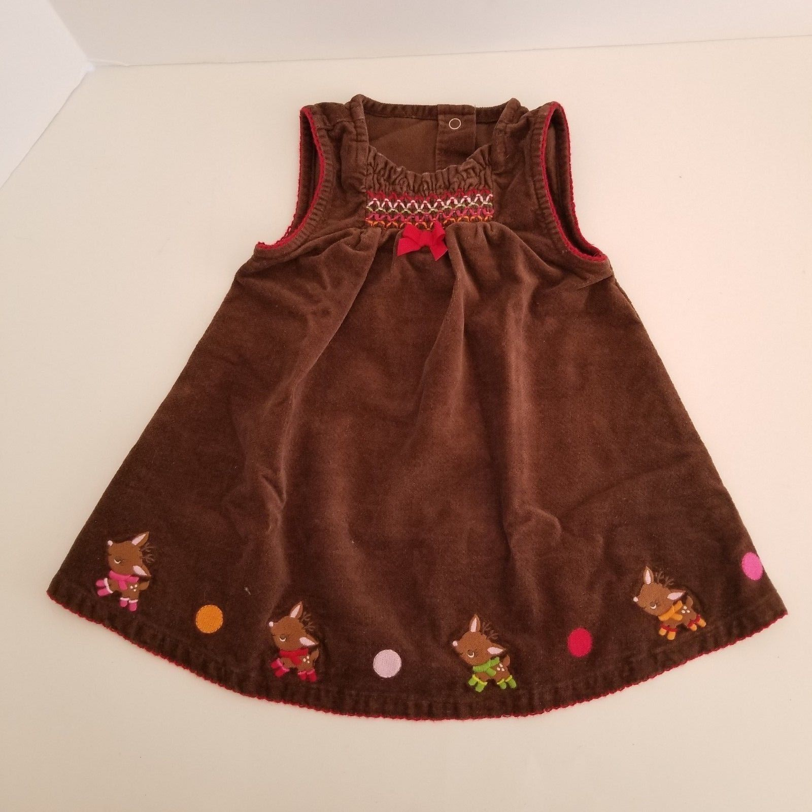 Gymboree Reindeer Frolic Dress  6-12 Months Christmas Holiday Outfit