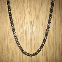 """Vintage Unisex Silver Plated Snail Link Chain Necklace Approx 46cm (18"""") - £25.16 GBP"""