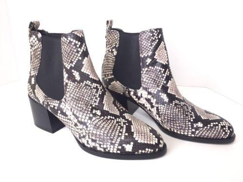 b0a78fd75a7e21 Sam Edelman Black White Python Leather Ankle and 50 similar items. 12