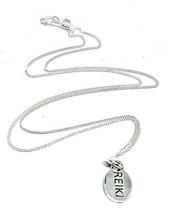 Reiki Cho Ku Rei Colgante Plata de Ley Dos Caras Cadena Joyería Collar - $51.83