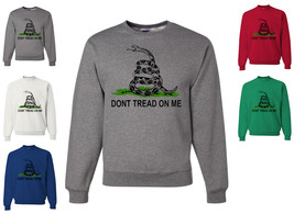 Don't Tread On Me Crewneck Sweatshirt Patriotic Gadsden Flag Marine Ratt... - $13.71+