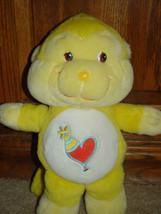 Care Bear Cousins Playful Heart Monkey 2004 Yellow - $14.00