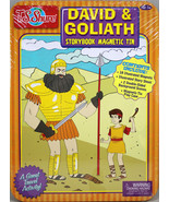 David & Goliath Storybook Magnetic Tin Playset Brand NEW Great Travel Ac... - $18.43